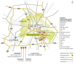 Preussensiedlung Wirtschaftsstandorte
